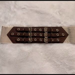 Express leather and elastic belt